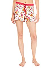 Limited Collection Retro Floral Spotted Pyjama Shorts with Modal