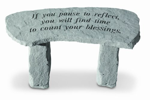 If You Pause To Reflect Garden Bench - Small BenchB0001XE0AM : image