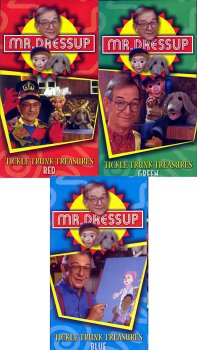 Mr. Dressup - Tickle Trunk Treasures (3 Pack Red, Green, Blue)
