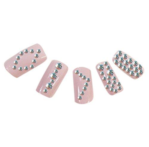 M?dchen -Nagel-Kunst Farbige Diamanten 12 Lattice Plattenspieler