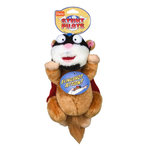 Image Hartz Stunt Pilots Plush Squirrel Dog Toy