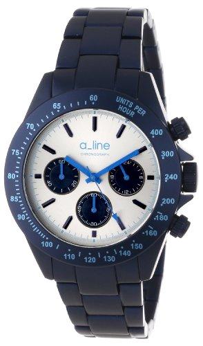 A_Line Women'S Al-20050-Nb-Sl Amore Chronograph Silver Dial Navy Blue Aluminum Watch