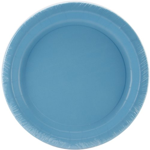 Creative Converting Bermuda Blue Paper Lunch Plates|24 pcs