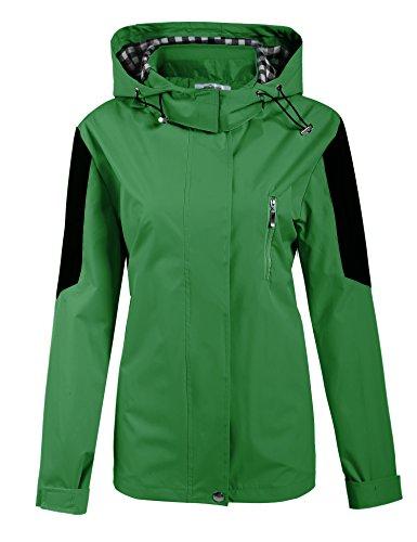 Meaneor Damen Herbst Winter Übergangsjacke Regenjacke Regenmantel Funktionsjacke Outdoor Wasserdicht Atmungsaktiv