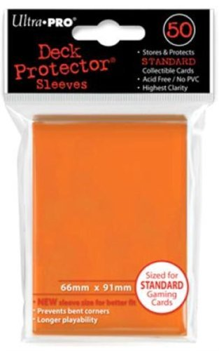 Standard Sized Sleeves 50 Count Orange Ultra Pro Deck Protectors x3