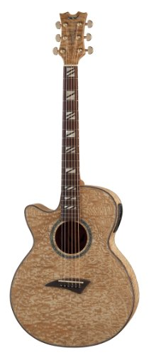 Dean Guitars Performer Quilt Ash Lefty Ae Gn Acoustic-Electric Guitar, Left Handed With Aphex