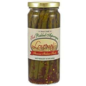 Loveras Pickled Spicy Asparagus - 16oz by Lovera