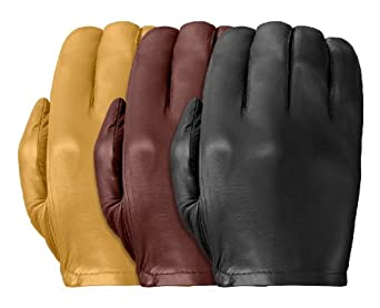 Tough Gloves Men's Ultra Thin Patrol-X Cabretta unlined leather gloves no points Size 9 Color Tan