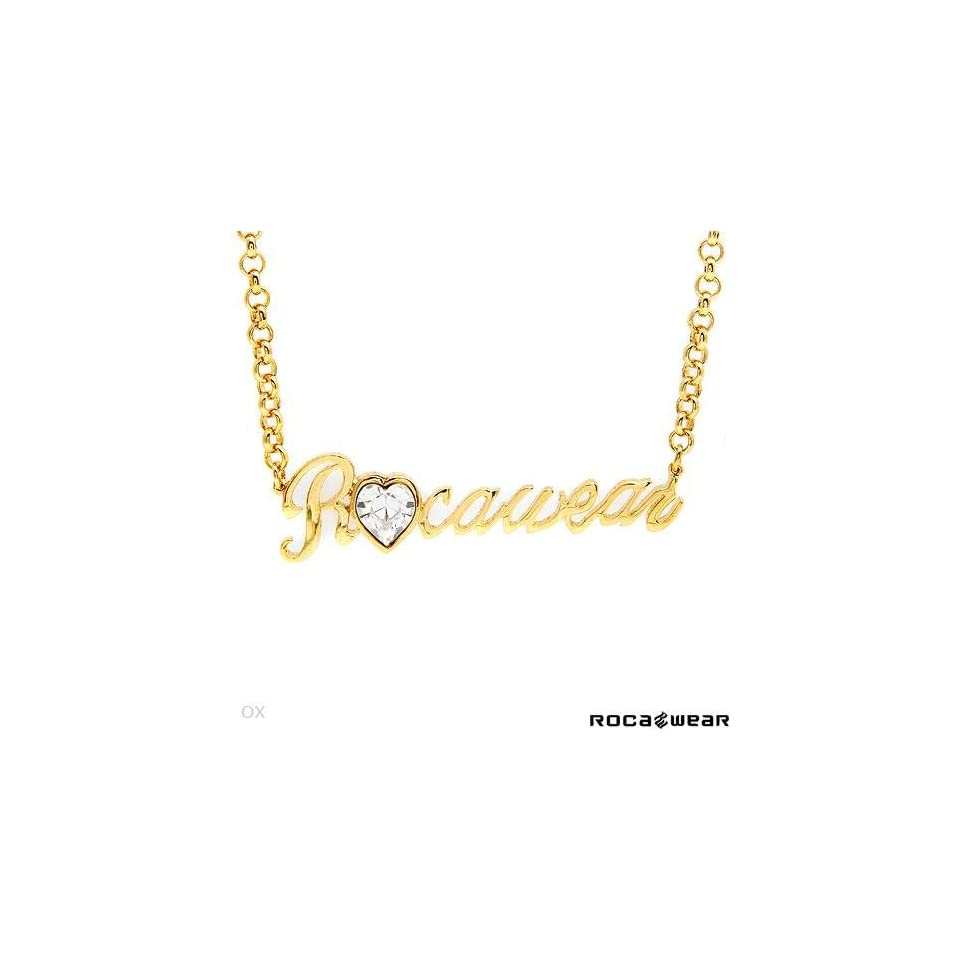 ROCA WEAR High Quality Necklace With Genuine Swarovski Crystal Crafted in Gold Plated Base Metal. Total item weight 14.4g