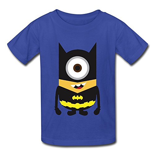 AHOO Youth Boys And Girls Tshirt Minions Dress Up Batman RoyalBlue