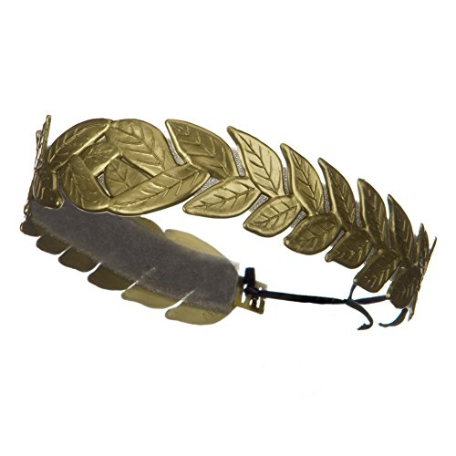 Roman Laurel Leaf Costume Headband Gold
