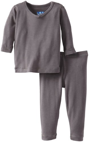 Kickee Pants Baby-Girls Infant Long Sleeve Pajama Set, Stone, 12-18 Months front-922165