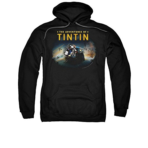 The Adventures Of Tintin Comic Character Journey Adult Pull-Over Hoodie