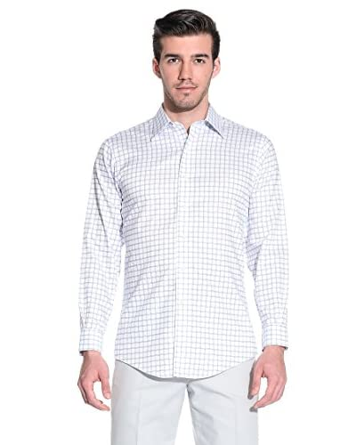 Brooks Brothers Camicia Uomo [Bianco/Blu]