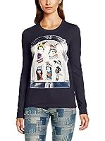Love Moschino Camiseta Manga Larga (Azul Marino)