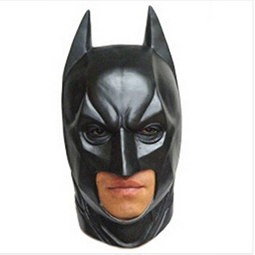 Deluxe Batman Full Head Latex Mask for Halloween,Easter,Dance Party,Costume