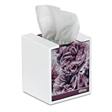 "TrippNT 50760 PVC Wall-Mountable Kleenex Box Holder with Tape for Cube Box, 5"" Width x 5"" Height x 5"" Depth"