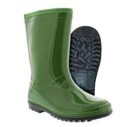Itasca Kid\'s 683900 Puddle Hopper Rain Boot, Green - 10M
