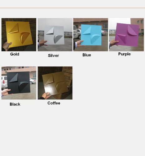 10.76 Sqf 300*300Mm Waterproof Fireproof Indoor And Outdoor Flower Plastic 3D Decorative Wall Ceiling Panel Plate Wallpaper Wall Board Plate Decoration For Home Reception Office Restaurants Living Room Bedroom (Coffee) front-267405