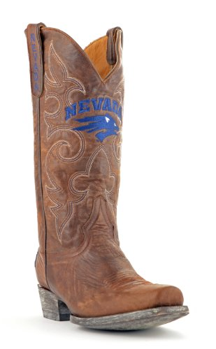 NCAA Nevada Wolf Pack Men's Board Room Style Boots, Brass, 13 D (M) US (Nv Wolf Pack compare prices)