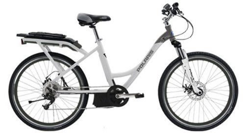 Polaris Electric Bikes Strive St Electric 8-Speed Step-Thru Road Bicycle, White/Metallic Grey, 16.5-Inch