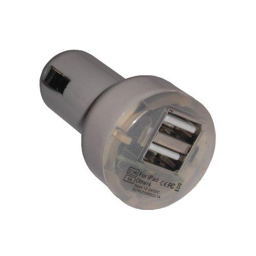Original Zukimik Dual USB KFZ Ladegerät Auto Netzteil 2 Ports für Apple IPhone 5 / 4S / 4 / 3 GS / 3G / IPad 4 / IPad Mini / IPOD Nano 7G / IPod Touch 5G / Samsung / HTC / Blackberry etc.