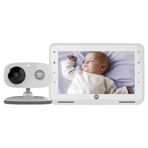 motorola mbp867 7 lcd digital video baby monitor white toddler safety monitors. Black Bedroom Furniture Sets. Home Design Ideas
