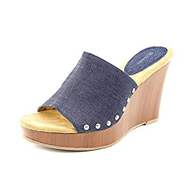 Amazon.com: Style & Co Mariell Womens Size 8 Blue Textile Wedge