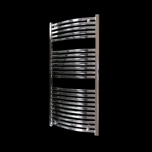 Modena Curved Chrome Heated Bathroom Towel Rail Radiator 1200 x 600 mm