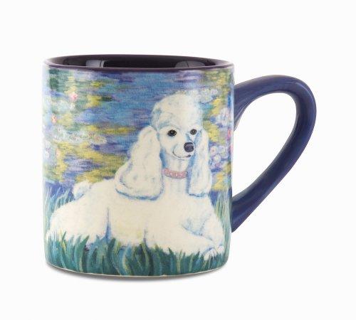 Paw Palettes Poodle Bonet Ceramic Mug, 16-Ounce front-424176