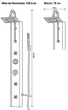 7 eisl orsp ymse colonne de de douche linea bricolage ee101. Black Bedroom Furniture Sets. Home Design Ideas