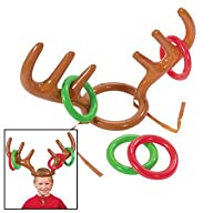 Inflatable Reindeer Antler Ring Toss…
