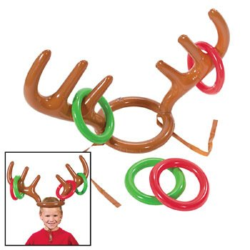Inflatable Reindeer Antler Ring Toss Game-Holiday Party - 1