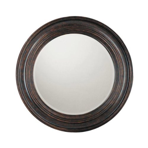 Capital Lighting M282846 Decorative Mirror, Deep Brown Frame and Beveled Mirror