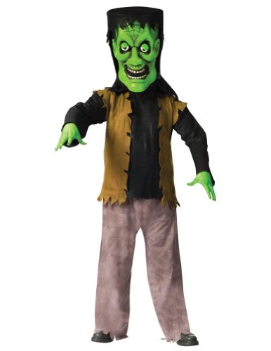 Bobble Head Adult Monster Green Adult Mens Costume