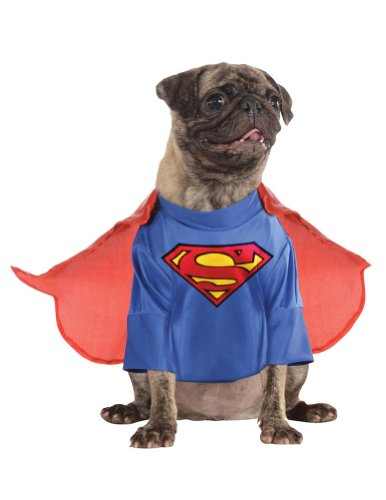 Extra Large - Cat & Dog Costume Superman Xl