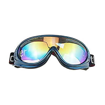 BXT Kids Children Junior Boys Girls Professional UV400 Colored Lens Sports Windproof Anti-fog Snowmobile Snowboard Bicycle Skate Protective Glasses Eyewear Ski Snow Goggles