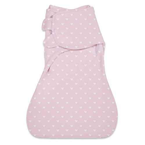 Summer Infant SwaddleMe Wrapsack Blanket, Pink Hearts, Large - 1
