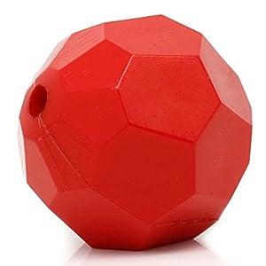 Housweety 10 Rot Acryl Facettiert Spacer Perlen Beads 23mm D.