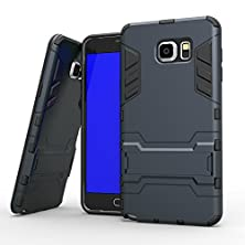 buy Universal Buying(Tm) Samsung Galaxy Note 5 Case,2 In 1 Anti-Knock Heavy Hybrid Hard Phone Cover Mobile Phone With Free Stand For Samsung Galaxy Note 5 (Armor Blue/Black)