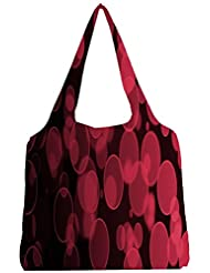 Snoogg Abstract Black Galaxy Galaxy Womens Jhola Shape Tote Bag