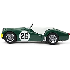 Triumph 1:18 TR3S LeMan 1959 Diecast Model Car (Green/ Yellow)