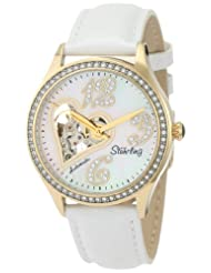 Stuhrling Original Women's 196A2.11357 Lifestyles Audrey Love Story Automatic Swarovski Crystal MOP Skeleton Watch