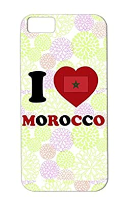 Red Casablanca Reduction Morrocan Marocco Mahomet Africa Imam Cities Countries Morocco Arabic Marrakech Eastern Marrocos Islam Flags Maroc Marokko Moslem Maghreb Arab Marruecos Mohammed Muslim Berber Mecque TPU I Love Morocco Shock Absorption Case Cover For Iphone 5c