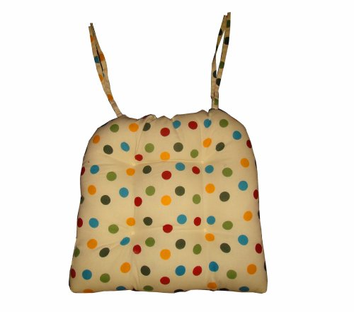 4 x Vintage Polka Dot Seat Pad Cushion