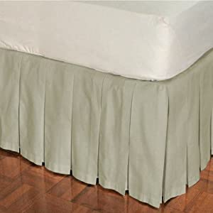 box pleat cotton bed skirt 14