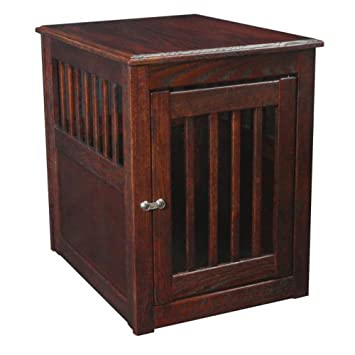 Luxury Dynamic Accents Dynamic Accents End Table Pet Crate Oak Mahogany Large L