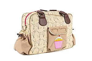 Yummy Mummy Stylish Nursery Changing Bag - Colour Sam The Dalmation - Includes Travel Changing Mat Cupcake Design Luxury Baby Bag from Pink Lining