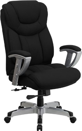 Flash Furniture Hercules Series Capacity Black Fabric Office Chair With Arms, Big And Tall