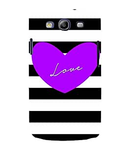 Love Blue 3D Hard Polycarbonate Designer Back Case Cover for Samsung Galaxy S3 :: Samsung Galaxy S3 i9300